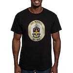 USS MERRILL Men's Fitted T-Shirt (dark)