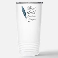 Shakespeare Greatness Quote Travel Mug