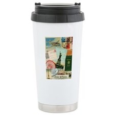 Vintage Passport travel collage Travel Mug