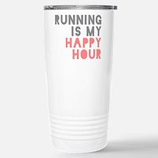Running Is My Happy Hour Travel Mug