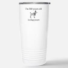 80 birthday dog years poodle Travel Mug