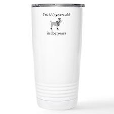 90 birthday dog years poodle Travel Mug