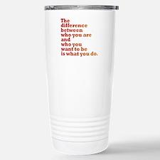 The Difference (red/orange) Travel Mug