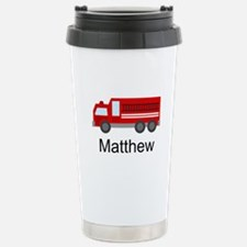 Personalized Fire Truck Stainless Steel Travel Mug
