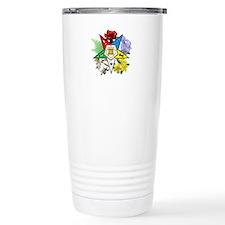 Eastern Star Floral Emblem Travel Mug
