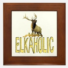Elkaholic gear and gifts  Framed Tile