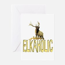 Elkaholic gear and gifts  Greeting Cards (Package