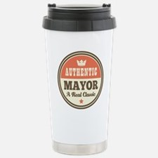 Mayor Funny Vintage Stainless Steel Travel Mug