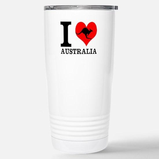 I Love Australia Stainless Steel Travel Mug