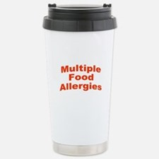 Multiple Food Allergies Stainless Steel Travel Mug