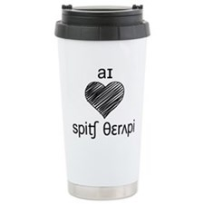 I heart Speech Therapy - black Thermos Mug