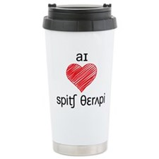 I heart Speech Therapy - 2 tone Travel Mug