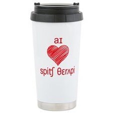 I heart Speech Therapy - red Thermos Mug