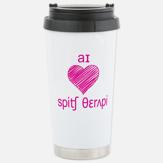 I heart Speech Therapy Stainless Steel Travel Mug