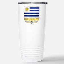 Uruguay Flag Stainless Steel Travel Mug