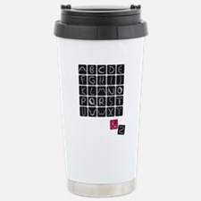 alphabet2 Stainless Steel Travel Mug