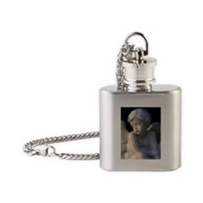 Cute Angels Flask Necklace