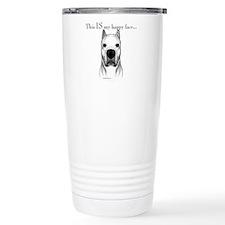 Dogo Happy Face dark Travel Mug