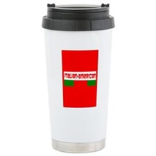 Tricolore Red Italian American Designer Travel Mug