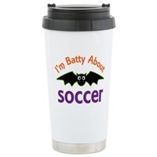 Batty About Soccer Travel Mug