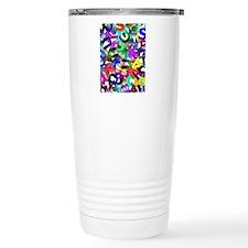 Colorful Alphabet Travel Mug