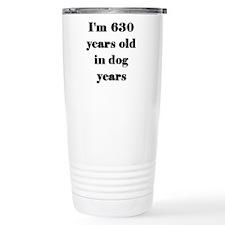 90 dog years 3-3 Travel Mug