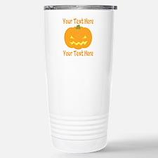 CUSTOM TEXT Jack O Lantern Travel Mug