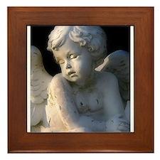 Funny Angel Framed Tile