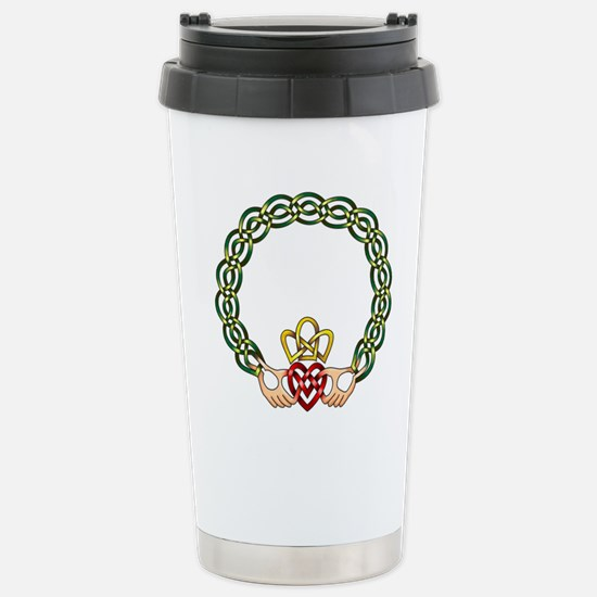 Claddagh Stainless Steel Travel Mug