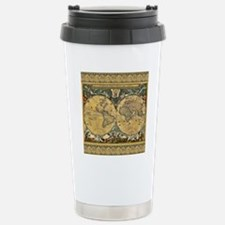 Antique World Map - J Blaeu - 1664 Travel Mug