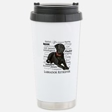 Black Lab Traits Stainless Steel Travel Mug