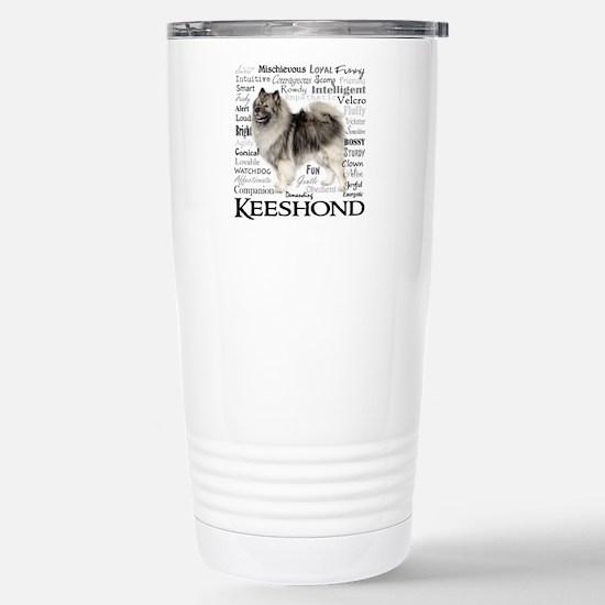 Keeshond Traits Stainless Steel Travel Mug