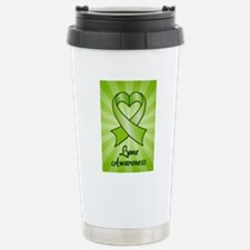 Lyme Disease Awareness Heart Ribbon Travel Mug