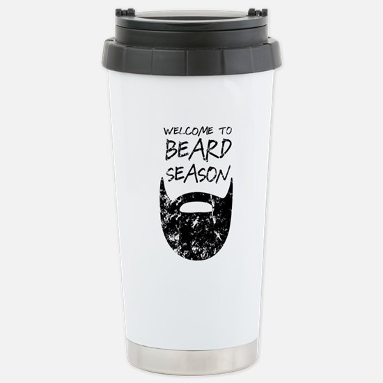 Welcome to Beard Season Stainless Steel Travel Mug