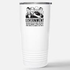 Government Lunatics Stainless Steel Travel Mug