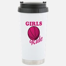 Girls Rule Stainless Steel Travel Mug