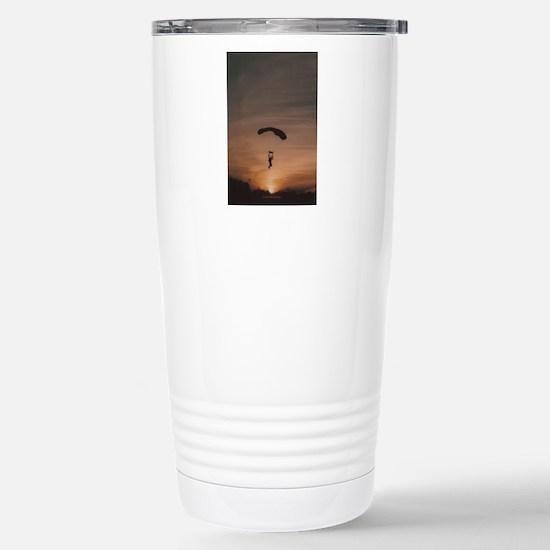 Sunset Skydiver Stainless Steel Travel Mug