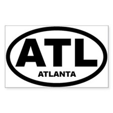 Atlanta Car Sticker and Shirt Sticker (Rectangular