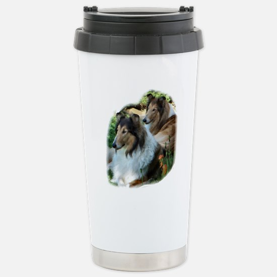 Rough Collie Art Stainless Steel Travel Mug