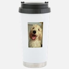 Happy Goldendoodle Stainless Steel Travel Mug