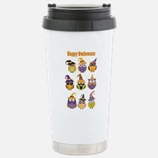 Happy Owloween Stainless Steel Travel Mug