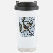 Tufted Titmouse & Chick Stainless Steel Travel Mug