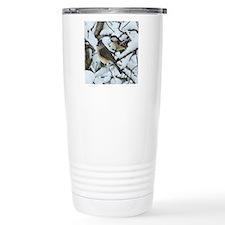 Tufted Titmouse & Chick Travel Coffee Mug