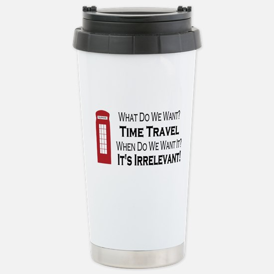 Time Travel Stainless Steel Travel Mug