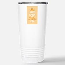 Keep Calm and Bake On Travel Mug
