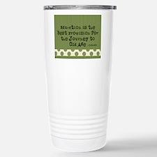 TEACHER BLANKET BAG GREEN POLKA DOTS Travel Mug