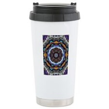 Reflective Fractal Mandala Travel Mug