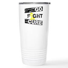 Ewings Sarcoma Go Fight Cure Thermos Mug