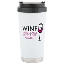 Wine Classy People Travel Mug