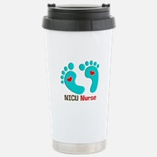 NICU nurse t-shirt blue feet Travel Mug